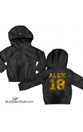 "UNISEX CHILD'S WINDBREAKER ""Name & Number"""