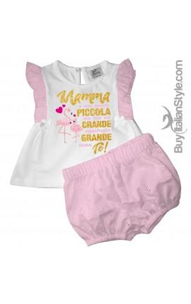 """Completino neonata """"Mamma è una parola piccola ma con un grande significato grande come te"""""""
