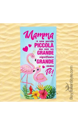 """Beach towel """"I'M A MUM WHAT IS YOUR SUPERPOWER?"""""""