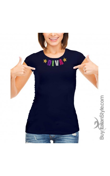 T-shirt Donna LETTERE GLITTER