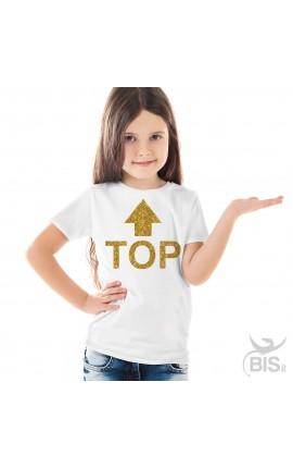 "T-shirt bimba manica corta ""TOP"""