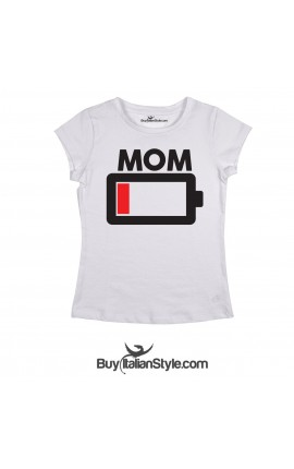 Women's T-Shirt Low Battery MOM