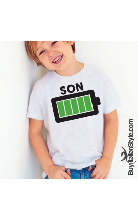Girl & Boy's T-Shirt Full Battery