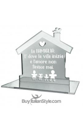 """Casetta in plexiglass specchiato personalizzabile """"frase e omini"""""""