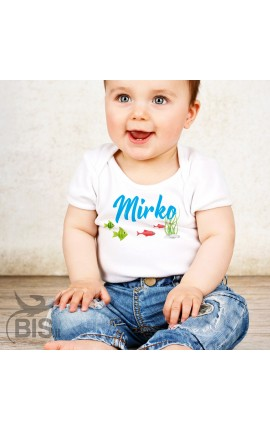 """Personalized Baby Bodysuit Layette """"Rose"""""""