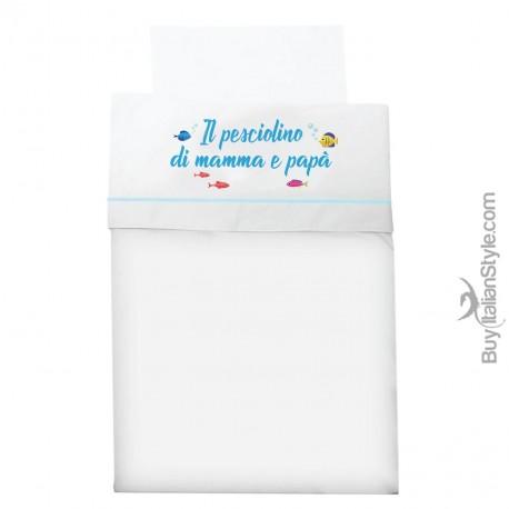 Customized three pieces sheets for crib/pram