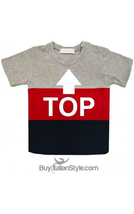 "T-shirt bimbo a fasce urban style ""TOP"""