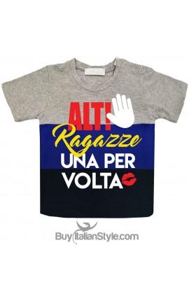 "T-shirt bimbo a fasce urban style ""Alt ragazze!"""