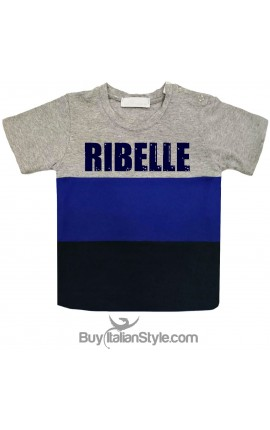 "T-shirt bimbo a fasce urban style ""RIBELLE"""