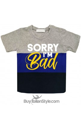 "T-shirt bimbo a fasce urban style ""I'm bad"""