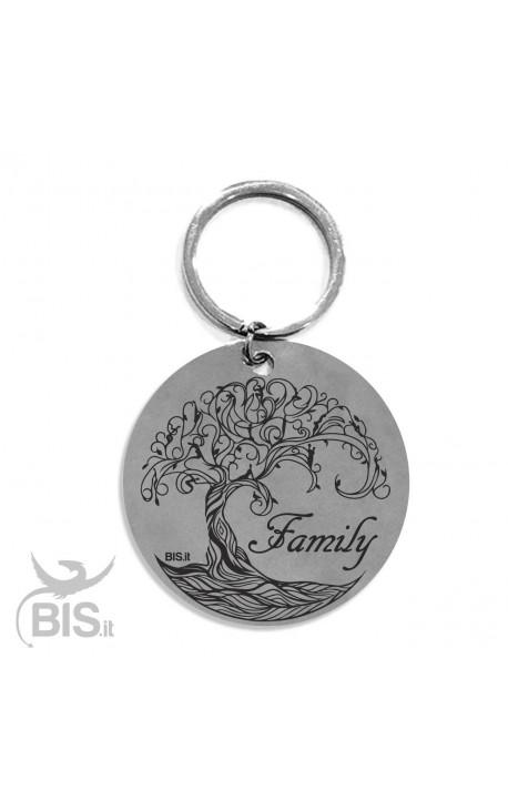 """Portachiavi acciaio """"Family albero della vita"""""""