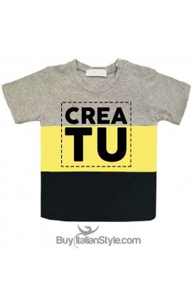 T-shirt bimbo a fasce urban style PERSONALIZZATA