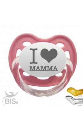 """Ciuccio Love """" I LOVE MAMMA"""""""
