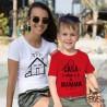 """T-shirt bimbo   """"CASA è dove c'è la MAMMA"""""""