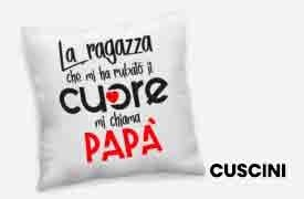 Pillowcase and cushions dedicated to dad