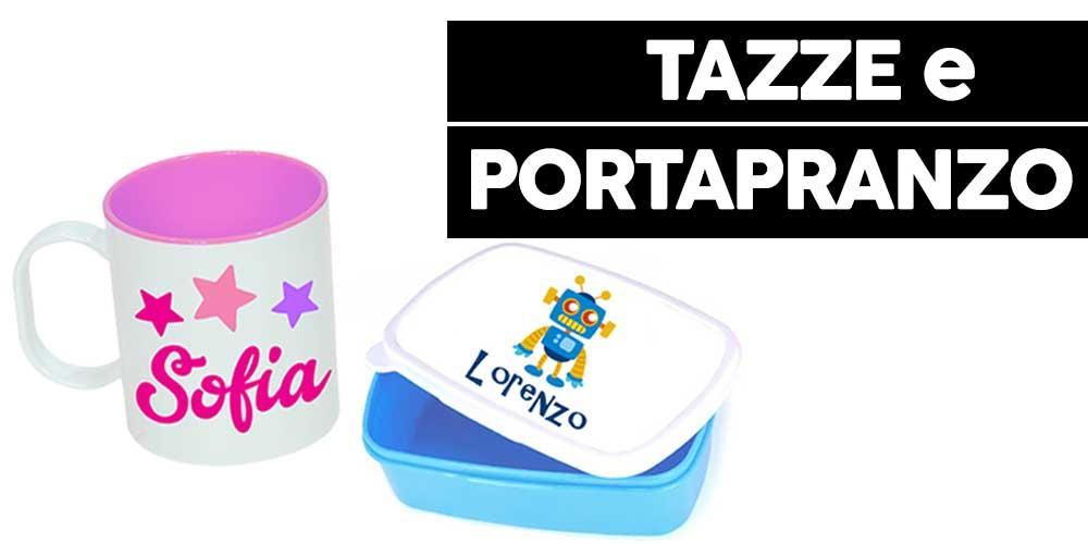 tazze e porta pranzo personalizzabili