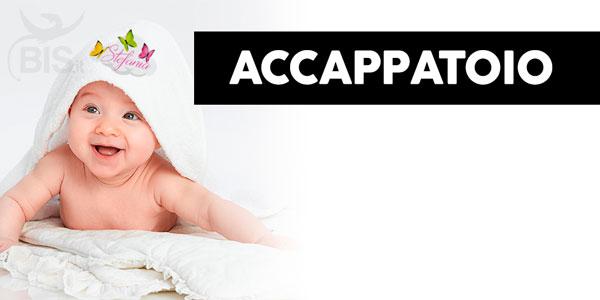 accappatoio neonato personalizzabile