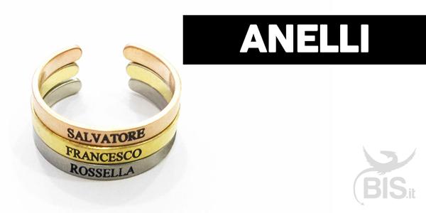 anello personalizzato nome marito o figli