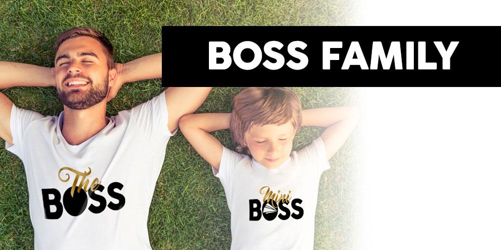 maglie e felpe famiglia stampa boss