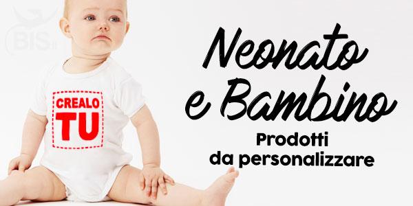 Abbigliamento e accessori personalizzabile per neonati e bambini