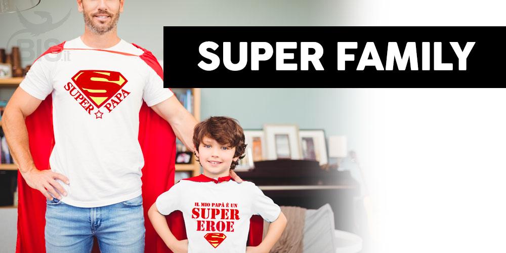 magliette supereroi famiglia